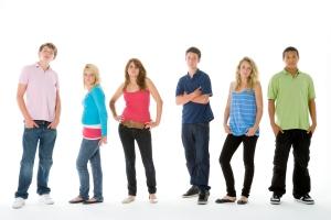 Group Shot Of Teenagers