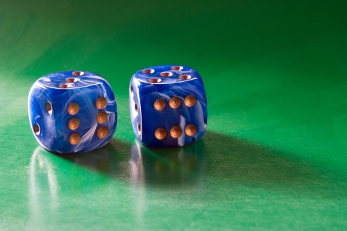 Two blue dices